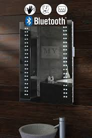 Opticon Illuminated LED Bluetooth Bathroom Mirror