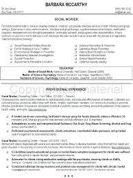 Social Work Objective Resume Sample Of Social Worker Resume Entry