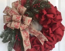 Christmas wreath, Burlap Christmas wreath, winter wreath, christmas Burlap  home decor, christmas