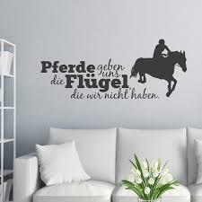 Wandtattoo Spruch Pferde Geben Uns Die Flügel