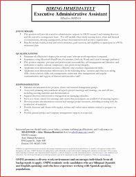 Executive Administrative Assistant Resume New Executive
