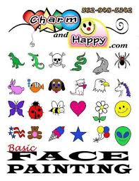 face painting design sheet awesome simple face painting ideas