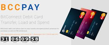 bitconnect s bccpay debit card is up bccpay makes spending cryptocurrency simple