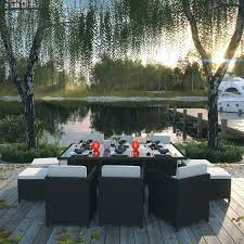 11 piece patio set piece outdoor patio dining set with cushions oasis outdoor patio furniture 11