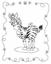 Small Picture Baby Zebra Cartoon Valentines Zebra Free Printable Coloring