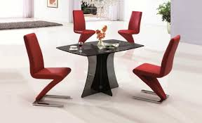 unique dining furniture. dining room contemporary sets black fiberglass table and red unique slipper chair design furniture