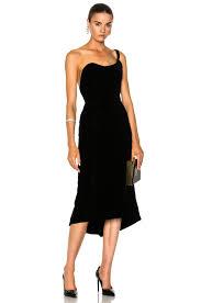 Designer One Shoulder Cocktail Dresses Image 1 Of Oscar De La Renta Velvet One Shoulder Cocktail