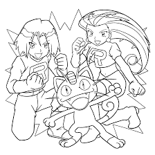 Pokemon Meowth Coloring Pages Wiring Diagram Database