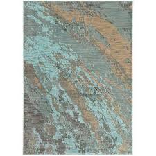 java blue 7 ft x 10 ft area rug