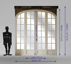large antique sliding glass door doors
