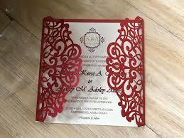 Invitation Card Design Handmade 2019 Vintage Lace Wedding Invites Red Handmade Laser Cut Wedding Invitation Free Printing Bridal Shower Invitation Cards Wedding Invitation Seals