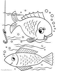 Small Picture Fish coloring book pages 001
