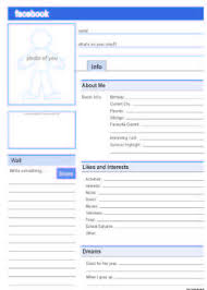 facebook page template for students facebook profile because i teach things facebook profile
