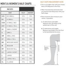 Ariat Boot Size Chart Ariat Breeze Half Chaps