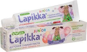 Купить <b>Зубная паста</b> Lapikka <b>Junior</b> Клубничный мусс <b>детская</b> 74г ...