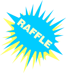 raffle sign raffle free stock photo illustration of a blue and yellow raffle