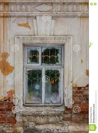 Window In An Old House Brick Walls With Crumbling Plaster Stock Exterior Brick Wall Crumbling