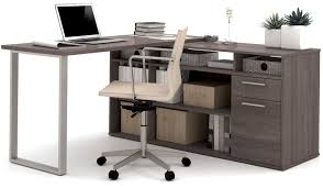 Alves L-Shaped Melamine Top Computer Desk