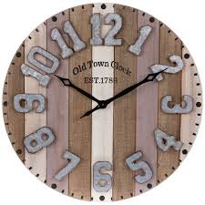 striped wood pallet wall clock hobby