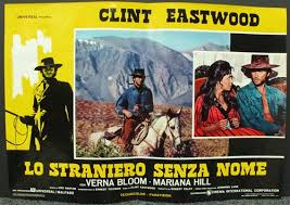 High Plains Drifter Photobusta Set Of 8 With Cover Sheet Vintage