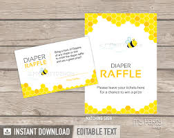 raffle sign bee baby shower printable diaper raffle tickets and sign my party