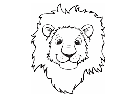 Small Picture Lion Head Coloring Page