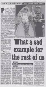 example of a newspaper article what a sad example our princess diana news article for 5