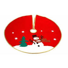 Cheryl and eve are direct neighbors, and laura lives further to the left of eve. Imperial Home Classic Red Christmas Snowman Tree Skirt 30