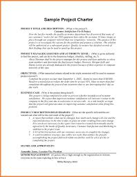 project charter sample project charter examples sop proposal