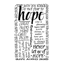 crafty individuals ci 020 hope calligraphy art rubber stamp