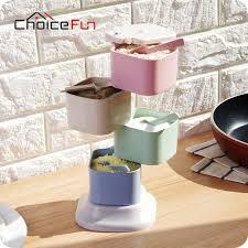 Choice Fun Fancy 4 Layers Rotating Multi Chamber Kitchen Spice Jar