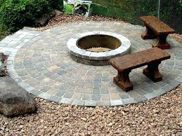 stone patio with fire pit fire pit patio stone outdoor fire pit