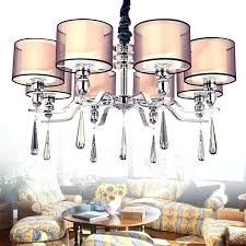 large modern chandeliers very fabric shade brown p