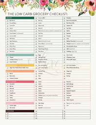 grocery checklist low carb diet grocery shopping checklist pdf printable