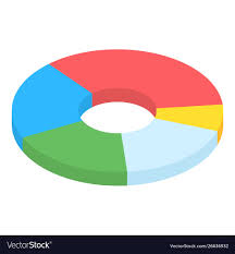 Business Plan Pie Chart Icon Isometric Style