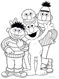 Sesame Street Coloring Pages At Getdrawingscom Free For Personal