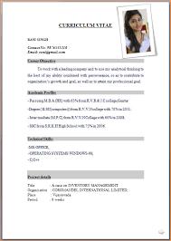 Job Application Resume Format