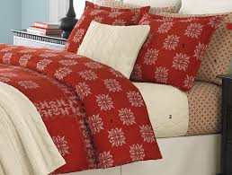 martha stewart cross stitch flannel twin duvet cover intended for red idea 10