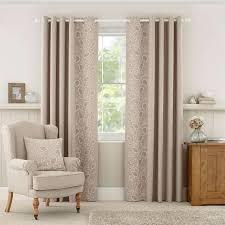natural madeline lined eyelet curtains dunelm