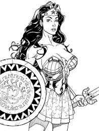 Wonder Woman Coloring Pages Simple For Boys Superhero 276 Super