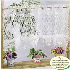 Free Crochet Curtain Patterns Magnificent Design Ideas