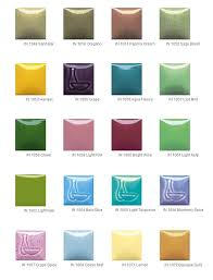 Duncan Concepts Color Chart Pin By Clayworld On Low Fire Glazes Ceramic Pottery Glaze