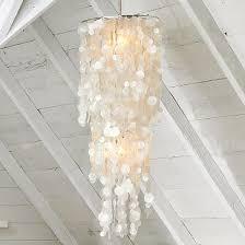 modern capiz shell chandelier for starfish cottage