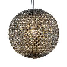 large chrome ball chandelier