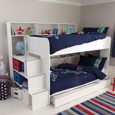 white storage loft bed