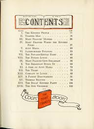 the mary frances cookbook table of contents