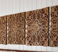 wall art panels incredible carved wood set of 2 pottery barn with 8