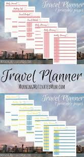 Road Trip Budget Template Travel Planner Printables Travel Itinerary Template