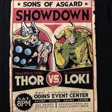 Marvel Comics Sons Of Asgard Showdown Thor Vs Loki Graphic T