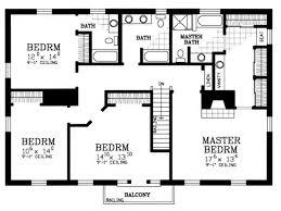 4 bedroom floor plan. 4 Bedroom House Plans Floor Plan A